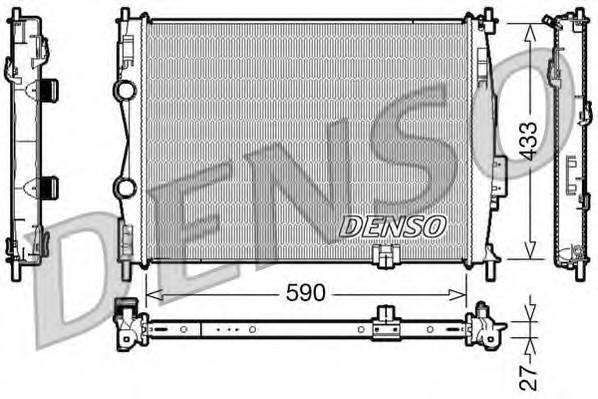 Радиатор основной для Nissan Qashqai (J10) 2006-2014 - Фото №1