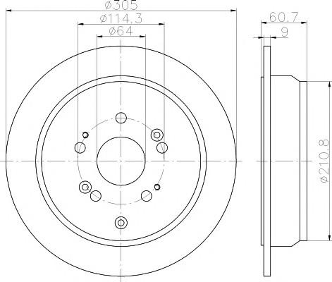 Диск тормозной задний для Honda CR-V 2012> - Фото №1