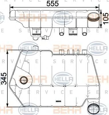Бачок расширительный для DAF XF 105 2005-2013 - Фото №1