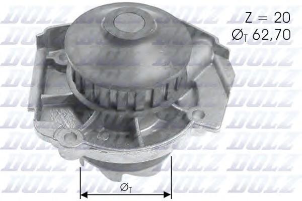 Насос водяной (помпа) для Fiat Palio 1996-2009 - Фото №1