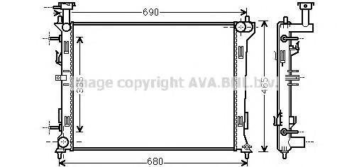 Радиатор основной для Kia Cerato 2009-2013 - Фото №1