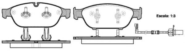 Колодки тормозные передние к-кт для Audi Allroad quattro 2012> - Фото №1