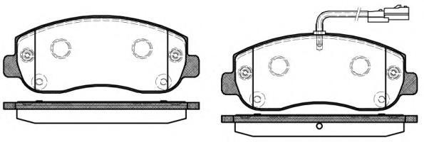 Колодки тормозные передние к-кт для Renault Master III 2010> - Фото №1