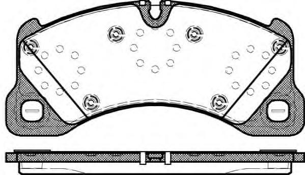 Колодки тормозные передние к-кт для Porsche Cayenne 2003-2010 - Фото №1
