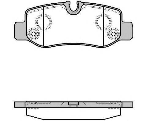 Колодки тормозные задние дисковые к-кт для Mercedes Benz Vito (447) 2014> - Фото №1