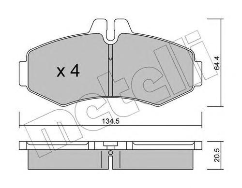Колодки тормозные передние к-кт для Mercedes Benz Vito (638) 1996-2003 - Фото №1