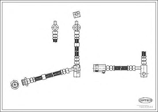 Шланг тормозной передний левый для Nissan Primera P12E 2002-2007 - Фото №1
