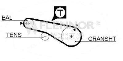Ремень балансирного вала для Mitsubishi Eclipse IV (DK) 2005-2012 - Фото №1
