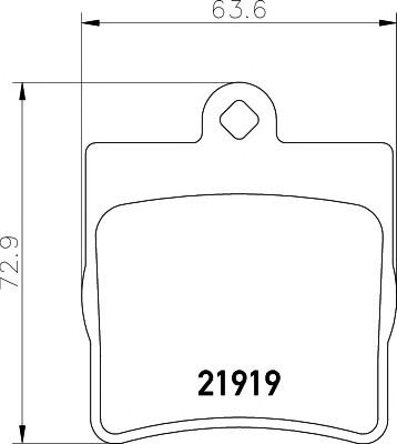 Колодки тормозные задние дисковые к-кт для Mercedes Benz CL203 CLC 2008-2011 - Фото №1