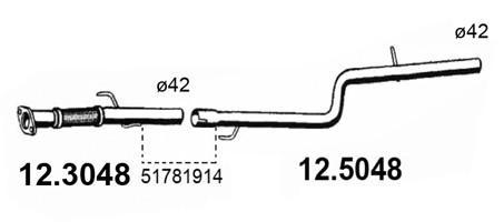 Средняя часть глушителя для Fiat Doblo 2005-2015 - Фото №1