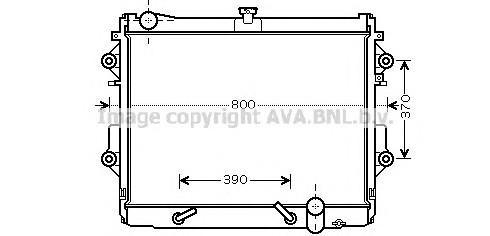 Радиатор основной для Lexus LX 570 2007> - Фото №1