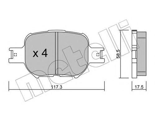 Колодки тормозные передние к-кт для Toyota Celica (ZT23#) 1999-2005 - Фото №1