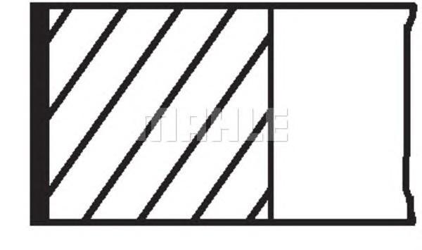 Кольца поршневые к-кт на 1 цилиндр для Seat Alhambra 2000-2010 - Фото №1
