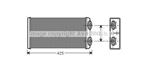 Радиатор отопителя для MAN 3-Serie F2000 1994-2001 - Фото №1