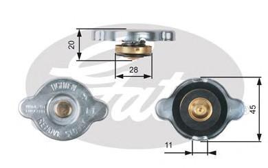 Крышка радиатора для Kia Carens 2013> - Фото №1