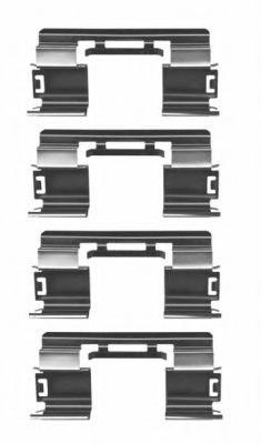 К-кт установочный передних колодок для Opel Astra J 2010> - Фото №1
