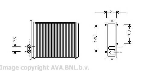 Радиатор отопителя для Volvo C70 1997-2002 - Фото №1
