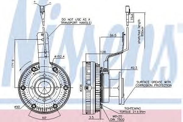 Термомуфта для MAN 4-Serie TGA 2000-2008 - Фото №1