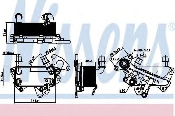Радиатор (маслоохладитель) АКПП для Skoda Superb 2008-2015 - Фото №1