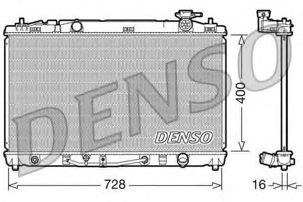 Радиатор основной для Toyota Camry V40 2006-2011 - Фото №1