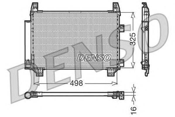 Радиатор кондиционера (конденсер) для Toyota Yaris 2005-2011 - Фото №1