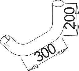 Труба глушителя для Mercedes Benz Truck 16-26 >1996 - Фото №1