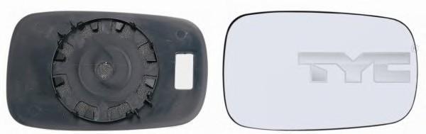 Стекло зеркала механического левого для Renault Megane I 1996-1999 - Фото №1