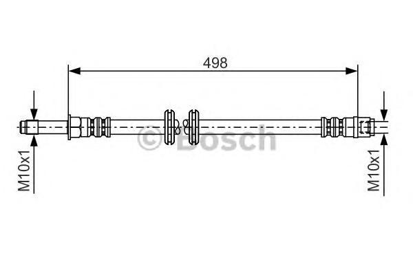 Шланг тормозной передний для Mercedes Benz Vito/Viano-(639) 2003-2014 - Фото №1