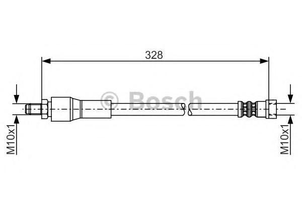 Шланг тормозной задний для Mercedes Benz Vito/Viano-(639) 2003-2014 - Фото №1