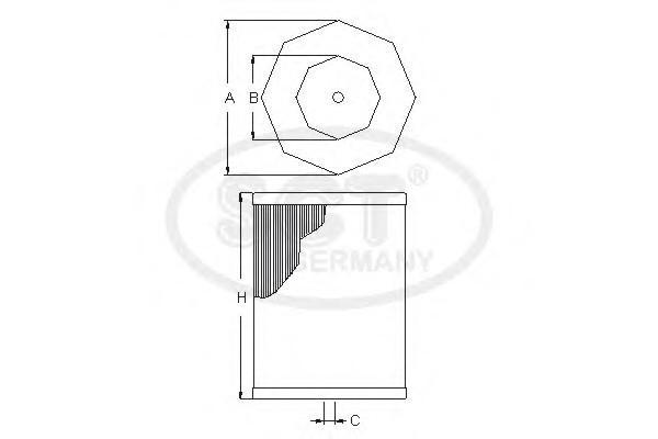 Фильтр воздушный для Infiniti Q50 (V37) 2013> - Фото №1