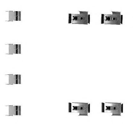 Пластины колодок для Mitsubishi Outlander XL (CW) 2006-2012 - Фото №1