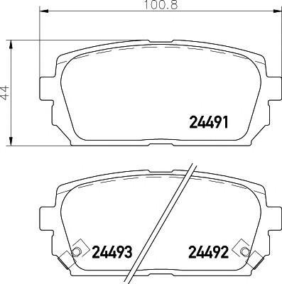 Колодки тормозные задние дисковые к-кт для Kia Carens 2006-2012 - Фото №1