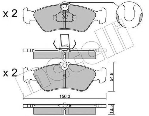 Колодки тормозные задние дисковые к-кт для VW LT II 1996-2006 - Фото №1