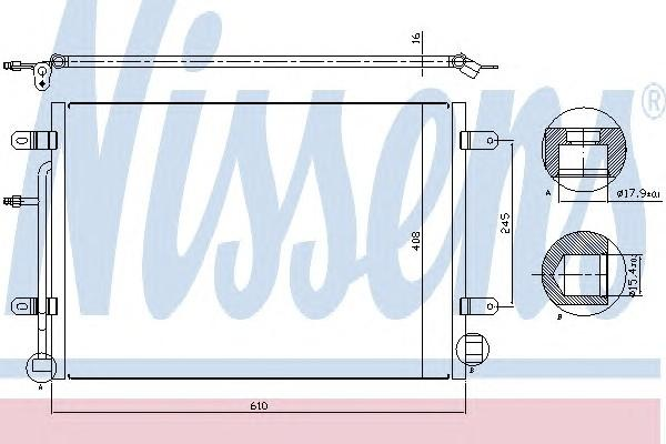 Радиатор кондиционера (конденсер) для Seat Exeo 2009-2013 - Фото №1